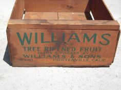 Fruit Crate  Wooden Fruit Crate  Vintage Wood Crate by BeckVintage, $32.00
