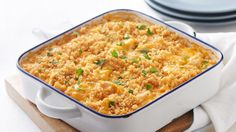 This cheesy rice and chicken bake is sure to please any family.