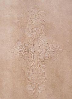 Stencils | Fleur De Lis Scroll Modern Masters | Royal Design Studio