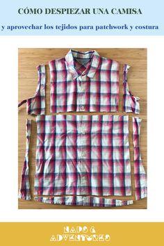 En el blog te cuento cómo aprovechar prendas de ropa que tengas en casa, para hacer patchwork u otros proyectos de costura. Textiles, Vest, Instagram, Blouse, Jackets, Tops, Women, Fashion, Scrappy Quilts