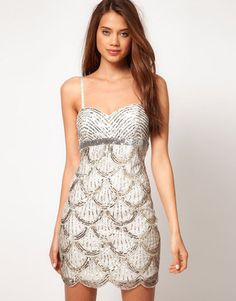 ShopStyle: Lipsy VIP Bandeau Embellished Dress