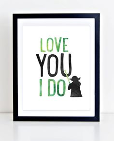 Yoda Print Printable Wall Art Love You I Do Print by DuneStudio - Star Wars Canvas - Latest and trending Star Wars Canvas. - Yoda Print Printable Wall Art Love You I Do Print by DuneStudio Baby Nursery Diy, Baby Boy Nurseries, Diy Baby, Nursery Ideas, Bedroom Ideas, Disney Nursery, Nursery Room, Star Wars Bathroom, Yoda Quotes