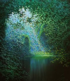 Emerald stream by Taras Loboda