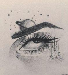 Anime Art Simple Drawing – Block to CoronaVirus! Tumblr Drawings, Pencil Art Drawings, Cool Art Drawings, Easy Drawings, Tree Drawings, Dragon Drawings, Drawings Of Eyes, Tumblr Art, Eye Pencil Drawing