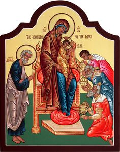 The Adoration of the Magi - by the Hand of Deacon Matthew Garrett - Icons of the Feasts