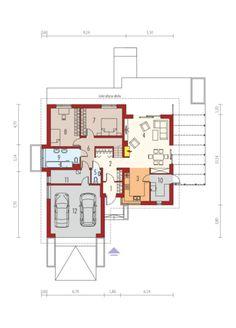 Astrid G2 - projekt domu - Archipelag My Home Design, House Design, Bungalow House Plans, Garage Plans, Design Case, Prefab, This Is Us, Floor Plans, Flooring