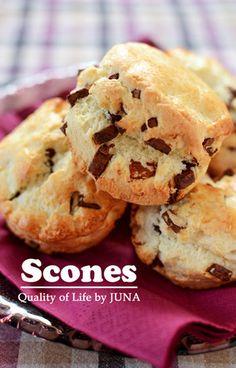 スコーンの作り方 (ちょっとマニアックに書いてみました) in 2019 Sweets Recipes, Brunch Recipes, Desserts, Cooking Bread, Cooking Recipes, Single Serve Cake, Savory Scones, Sweet Buns, Cream Tea