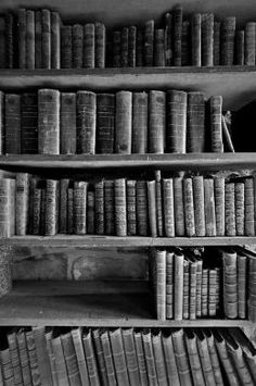 books in black and white