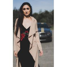 """(@kaval.sultana) on Instagram: """"but he who dares not grasp the thorn, should never crave the rose 🌹"""" #shein #dress #velvet #rose #dustercoat #cost #mustang #fashion"""