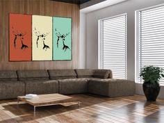 Poster Deer Portray - erhältlich auf www.klebespass.de