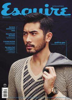 Godfrey Gao para Esquire Singapur