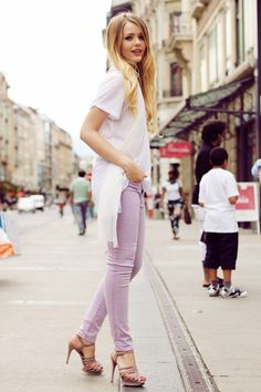 Love the color of these jeans!
