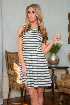 """Tour De Fame Dress, Ivory-Black"" 