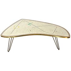 View this item and discover similar for sale at - This lyrical Frankfurter Mosaik glass-tiled mosaic table is titled 'Scherzo.' Mounted on polished steel rod splayed legs and framed in polished Mosaic Furniture, Table Furniture, Furniture Design, Tiled Coffee Table, Coffee Tables, Modern End Tables, Mid Century Modern Decor, Glass Mosaic Tiles, Mid Century Furniture