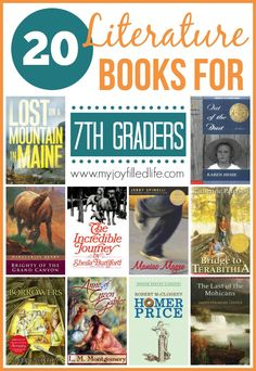 20 Literature Books for 7th Graders - My Joy-Filled Life