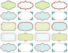 Doodle-Style Tags #free #printable