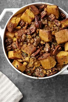 Corn Bread, Bacon, Leek, and Pecan Stuffing