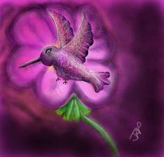 8/8/14 Hummingbird haven- Free draw on Draw Something 2 by Julie Payne