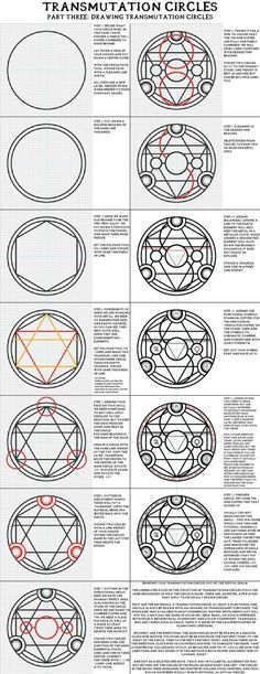 "Transmutation Circles, ""Part Three: Drawing Transmutation Circles"". Full Metal Alchemist / Hagane No Renkinjutsushi"