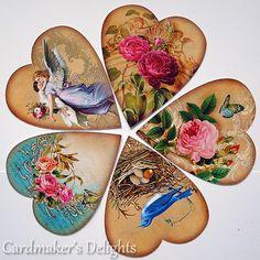 Flower of past love Vintage Valentine Cards, Vintage Cards, Vintage Images, Decoupage Vintage, Decoupage Paper, Patchwork Heart, Heart Template, Heart Illustration, Illustrations