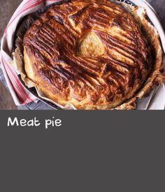There is nothing more Australian than a meat pie! This recipe for one large pie is a great dish for feeding the family.The crisp golden puff pastry will be sure to impress. Dishes Recipes, Meal Recipes, Food Dishes, Australian Recipes, Australian Food, Puff Recipe, Puff Pastry Recipes, Fish Pie, Puff Pastry Sheets