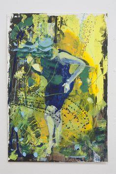 Yellow, acrylic on paper, 46x31cm, 2014 | Artwork by Bartosz Beda