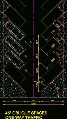 Estacionamiento 45 grados (dwgDibujo de Autocad)