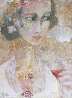 "Saatchi Art Artist Iris Schreven; Painting, ""Donna con vino rosso"" #art"