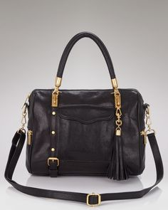 Looking for a black bag with gold hardware.
