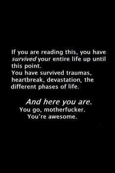You're awesome..