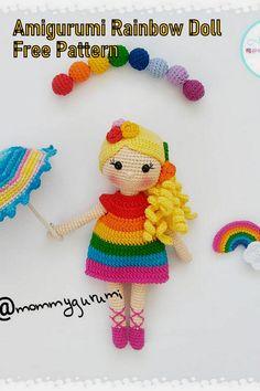 Amigurumi Rainbow Doll Free English Pattern – Amigurumi