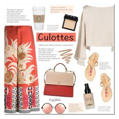 """""""Tricky Trend: Culottes"""" by cafejulia ❤ liked on Polyvore featuring Etro, Matthew Williamson, Lilly Pulitzer, HUGO, Bobbi Brown Cosmetics and NARS Cosmetics"""