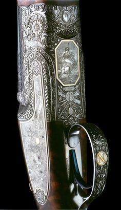 Alain Lovenberg Napoleon-plat-de-bascule-2 Pistol Holster, Shooting Guns, Arm Armor, Hunting Rifles, Gravure, Shotgun, Firearms, Precious Metals, Weapons