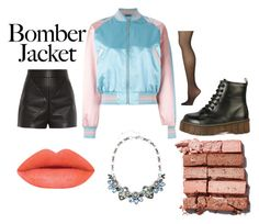 """""""Bomber Jacket"""" by taylorelyse2 ❤ liked on Polyvore featuring Alexander McQueen, Balenciaga, Calvin Klein, Bobbi Brown Cosmetics, women's clothing, women, female, woman, misses and juniors"""