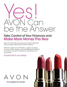 When you sell Avon you sell more than beauty. Part-time or full-time, in sweats of stilettos, sell Avon anytime, anywhere — online and in-person. Earn up to Start now — it's super easy. Avon Sales, Make Beauty, Avon Representative, Be Your Own Boss, E 10, Make More Money, Extra Money, Extra Cash, Appointments