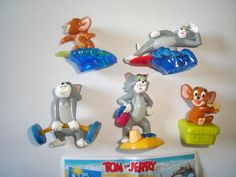 TOM & JERRY AT THE BEACH KINDER SURPRISE FIGURES SET HANNA BARBERA FIGURINES  | eBay