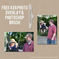 Freebie Friday: Favorite Photo Overlay & Photoshop Brush