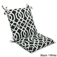 Squared Solid Gray Textured Outdoor Chair Cushion 14095704