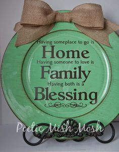 Turquoise Decorative Charger Plate with by PoeticMishMosh on Etsy
