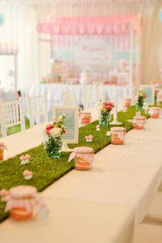 Un camino precioso para una fiesta hadas / A lovely fairy table runner