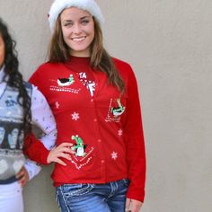 Sledding + Skiing Penguins Tacky Ugly Christmas Sweater