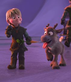Frozen--- Kristoff & Sven