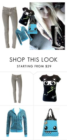 """""""cute emo outfit"""" by bring-me-to-life-agian ❤ liked on Polyvore featuring Hudson Jeans, Goodie Two Sleeves, Wet Seal and Converse"""