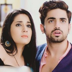 2 cuties made 4 each other Cute Celebrities, Bollywood Celebrities, Celebs, Hot Couples, Celebrity Couples, Tashan E Ishq, Indian Star, Indian Tv Actress, Zain Imam