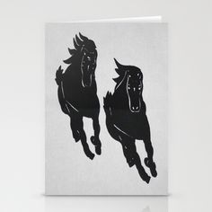 Wild Horses - Screenprint - Wild Veda Stationery Cards