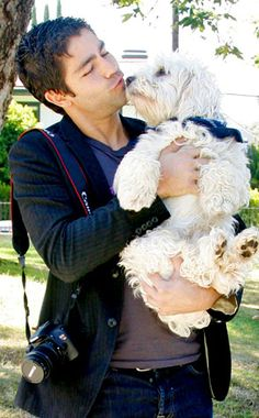 10.26.13 - Celebs and Their Dogs - Adrian Grenier