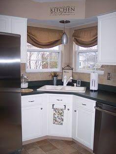 35 Best Inspiring Corner Kitchen Sink Cabinet Designs Ideas For Home Corner Sink Kitchen Kitchen Sink Design Kitchen Sink Window