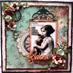 Vintage inspired layout using Kaisercraft, Curiosity paper collection. Heritage Scrapbook Pages, Vintage Scrapbook, Scrapbook Page Layouts, Photo Layouts, Friend Scrapbook, Baby Scrapbook, Scrapbook Cards, Mixed Media Scrapbooking, Scrapbooking Ideas