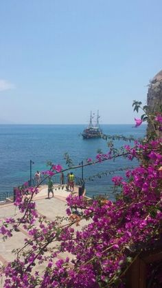 Alanya Turkey for ever💜 Alanya Turkey, Bougainvillea, Ottoman Empire, Great View, Serendipity, Mother Nature, Places To See, Countries, Scenery