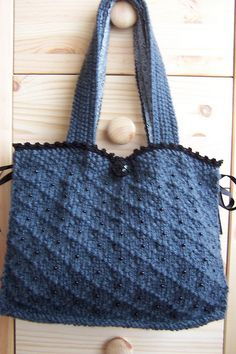 Victoria Knitted Bag By Francoise Davis Bags Knit Free Knitting Loom
